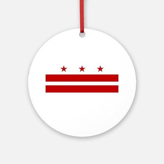 Washington DC Flag Ornament (Round)