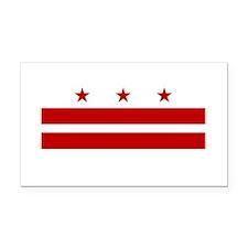 Washington DC Flag Rectangle Car Magnet