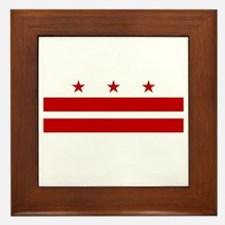 Washington DC Flag Framed Tile