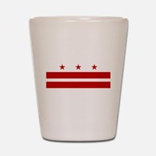 Washington DC Flag Shot Glass