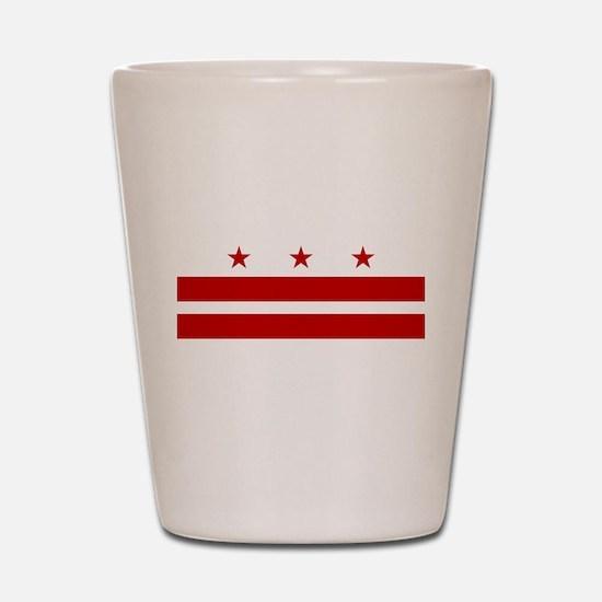 Washington DC Flag Shot Glass
