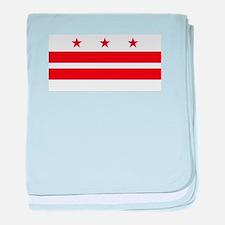 Washington DC Flag baby blanket