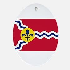 St Louis Flag Ornament (Oval)