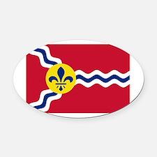 St Louis Flag Oval Car Magnet