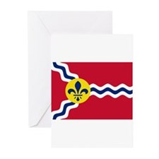 St Louis Flag Greeting Cards (Pk of 10)