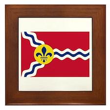 St Louis Flag Framed Tile