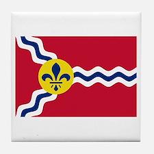 St Louis Flag Tile Coaster