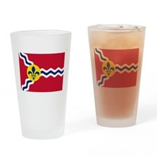 St Louis Flag Drinking Glass