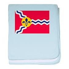 St Louis Flag baby blanket