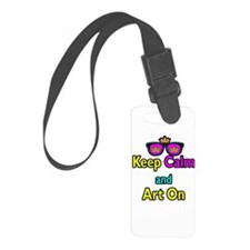 Crown Sunglasses Keep Calm And Art On Luggage Tag