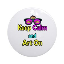Crown Sunglasses Keep Calm And Art On Ornament (Ro