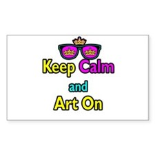 Crown Sunglasses Keep Calm And Art On Decal