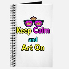 Crown Sunglasses Keep Calm And Art On Journal