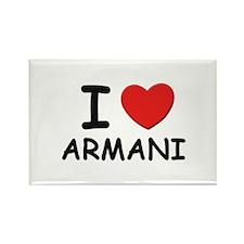 I love Armani Rectangle Magnet