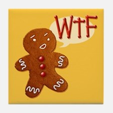 Gingerbread WTF Tile Coaster