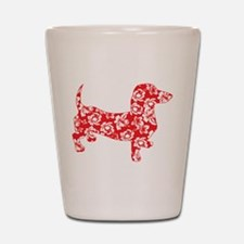 Aloha Doxies in Red Shot Glass