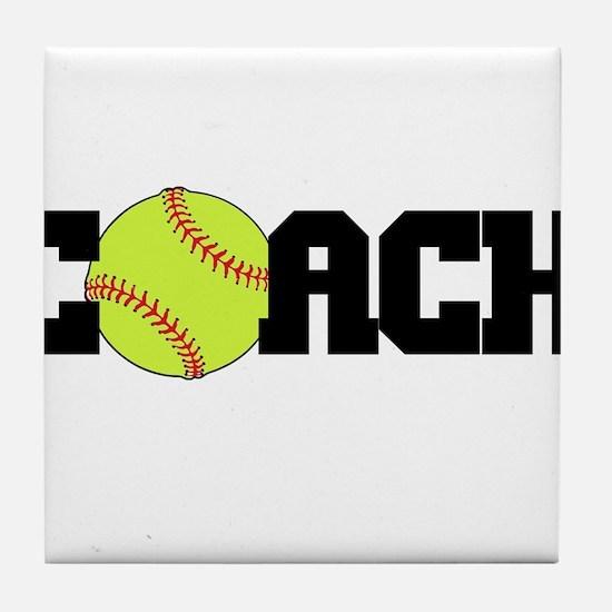 Softball Coach Tile Coaster