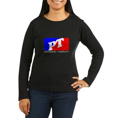 Physical Therapy Women's Long Sleeve Dark T-Shirt