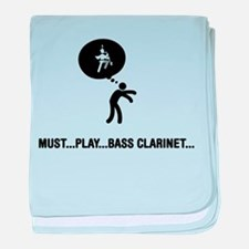 Bass Clarinet Player baby blanket