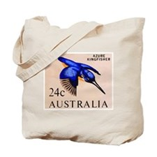 1966 Australia Azure Kingfisher Postage Stamp Tote