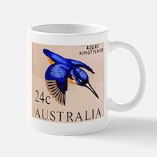 1966 Australia Azure Kingfisher Postage Stamp Mug