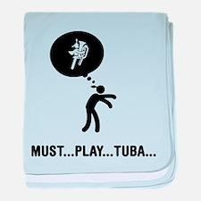 Tuba Player baby blanket