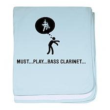 Bass Clarinet Player baby blanket