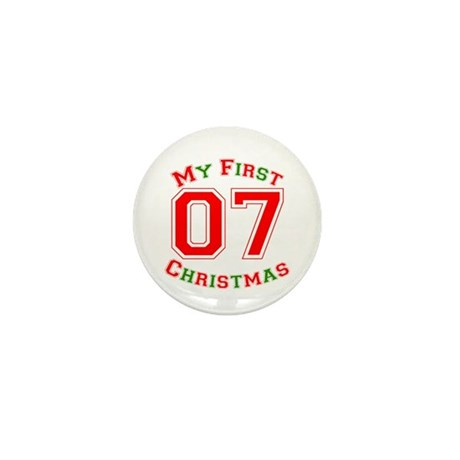 My First Christmas 07 Mini Button (100 pack)