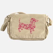Aloha Pink Doxies Messenger Bag