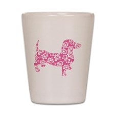 Aloha Pink Doxies Shot Glass