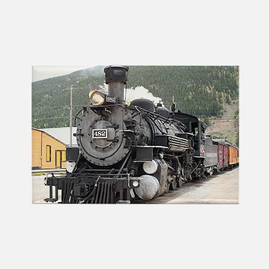 Steam train engine Silverton, Colorado, USA 8 Rect