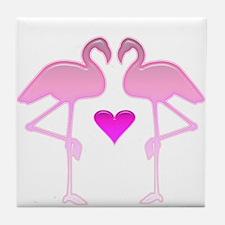 Flamingo Love Tile Coaster
