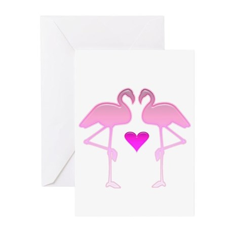 Flamingo Love Cards (Pk of 10)