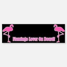 Flamingo Lover On Board Bumper Bumper Bumper Sticker