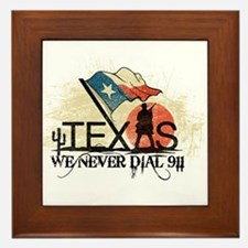 Don't mess with Texas Framed Tile