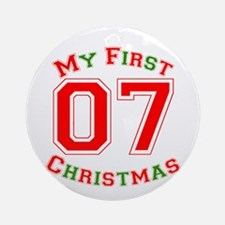 My First Christmas 07 Ornament (Round)