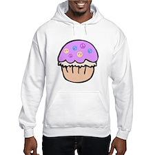 Cute Purple Peace Cupcake Cartoon Design Hoodie