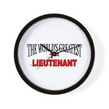 """The World's Greatest 1st Lieutenant"" Wall Clock"