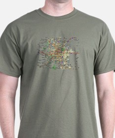 Denver Map T-Shirt