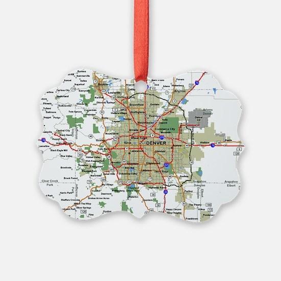 Denver Map Ornament