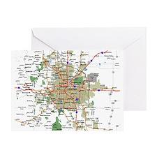 Denver Map Greeting Card