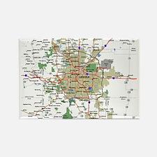 Denver Map Rectangle Magnet