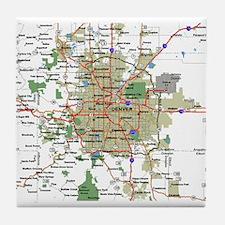 Denver Map Tile Coaster