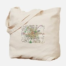 Denver Map Tote Bag