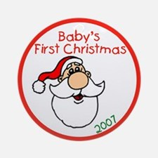 Baby's First Christmas Santa Ornament (Round)