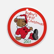 Baby's First Christmas 2007 Ornament (Round)