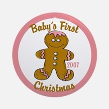 Baby's 1st Christmas (Gingerbread Girl) Ornament