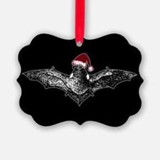 Bat In A Santa Hat Ornament