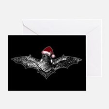Bat In A Santa Hat Greeting Card