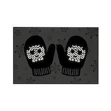 Gothic Skull Mittens Rectangle Magnet